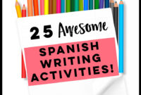 25 Spanish Writing Activities, Spanish Writing Projects For intended for Book Report Template In Spanish