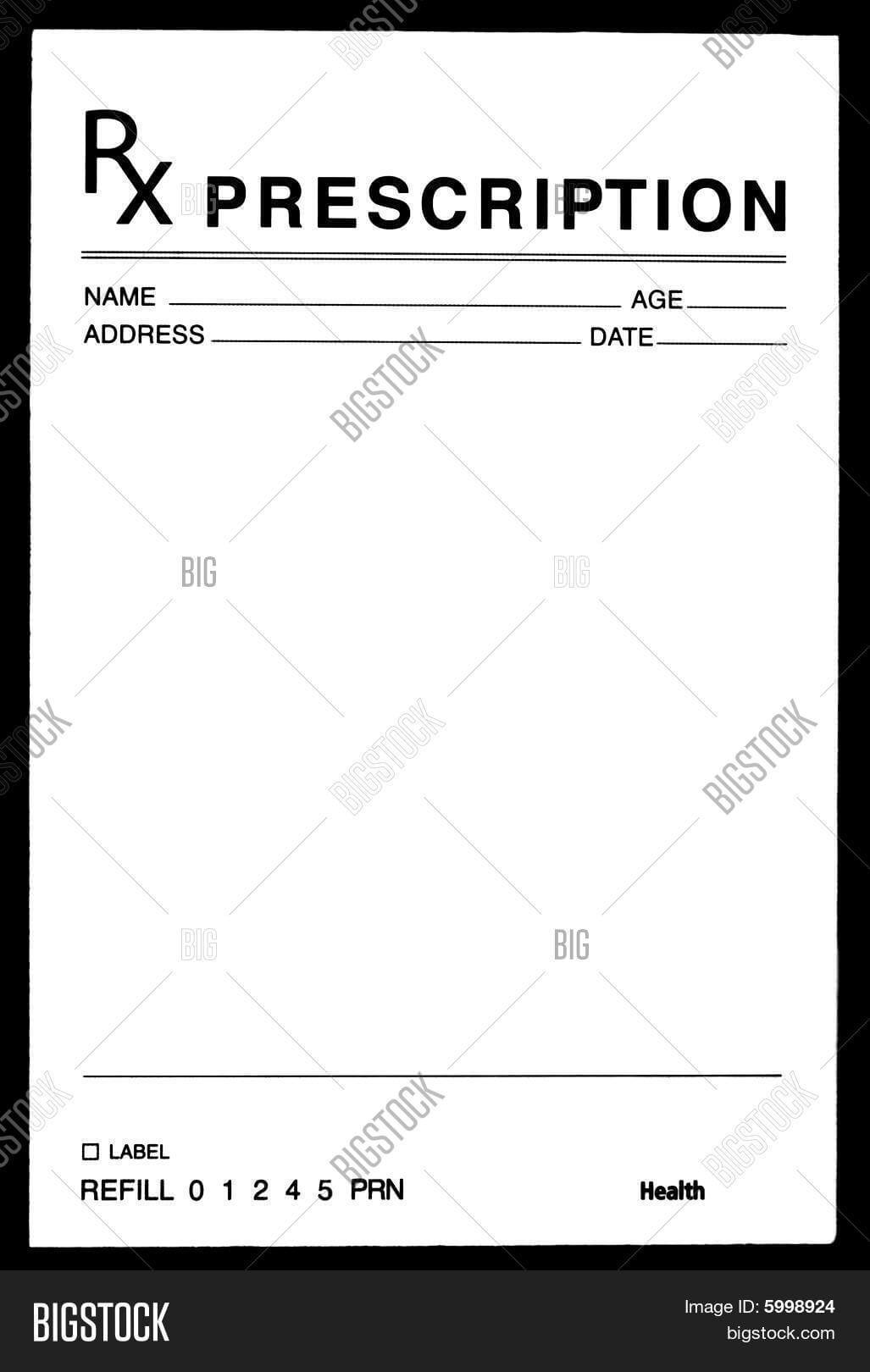 26 Images Of Blank Prescription Form Doctor Template Inside Blank Prescription Form Template