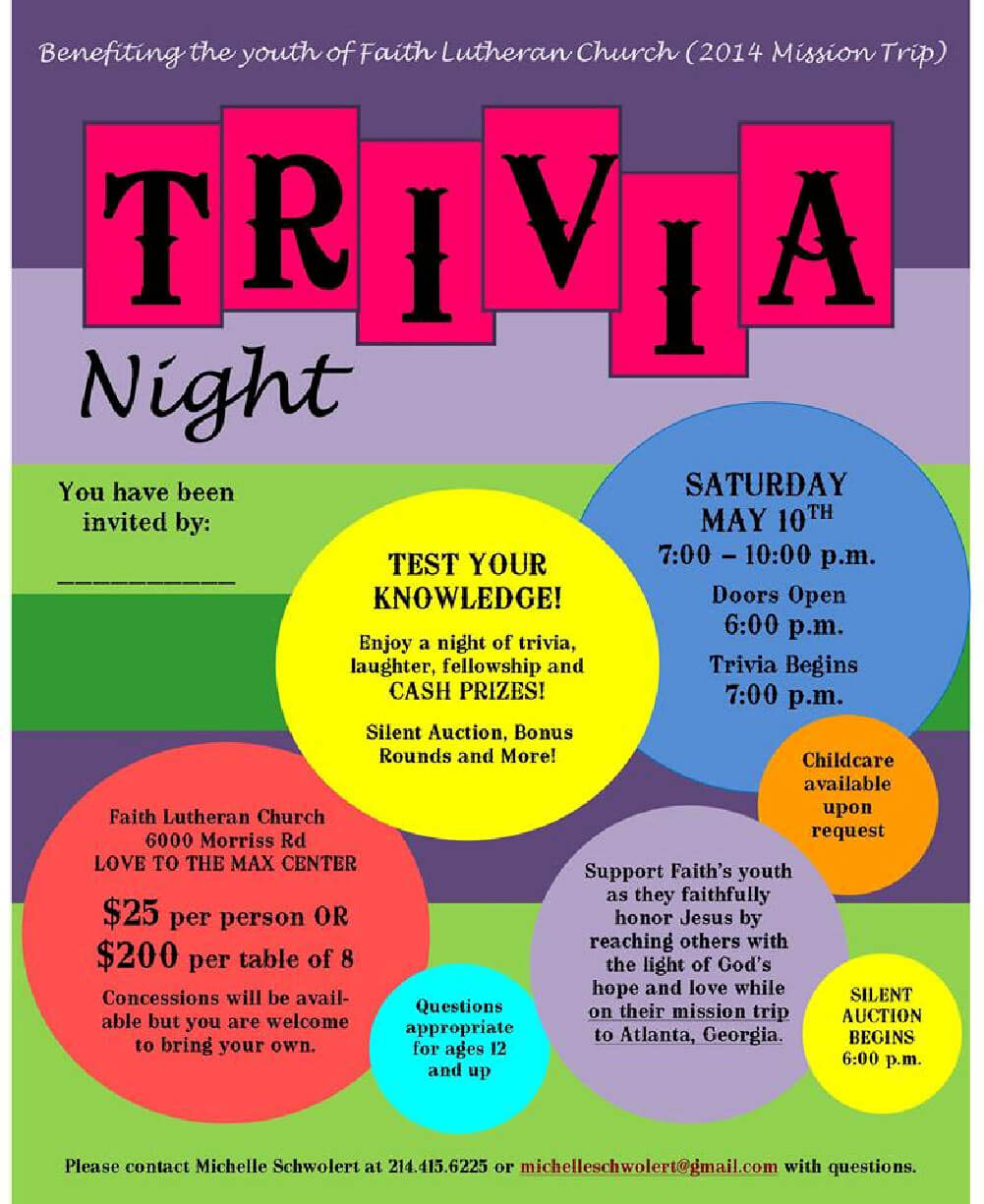 26 Images Of Trivia Night Fundraiser Flyer Template | Gieday Intended For Bingo Night Flyer Template