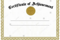26 Printable Gold Foil Seal Certificate Templates for Choir Certificate Template