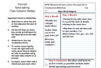 27 Images Of 4 Column Note Template | Masorler with 3 Column Notes Template