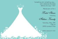 27 Images Of Blue Wedding Shower Template | Somaek for Blank Bridal Shower Invitations Templates