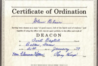 27 Images Of Free Printable Ordination Certificate Template intended for Certificate Of Ordination Template