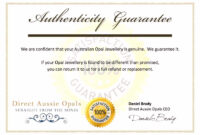 27 Images Of Sample Certificate Of Authenticity Template with Certificate Of Authenticity Template