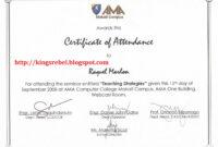 28+ [ Certificate Of Attendance Seminar Template ] | Best within Attendance Certificate Template Word