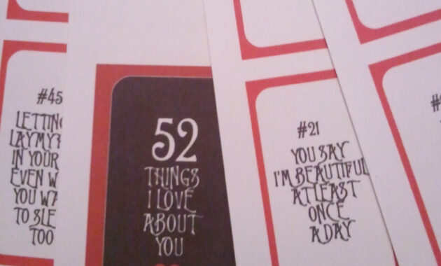 28 Images Of 52 Things Template   Vanscapital pertaining to 52 Reasons Why I Love You Cards Templates
