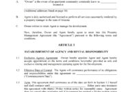28+ [ Property Manager Agreement Template ] | Download with regard to Business Management Contract Template