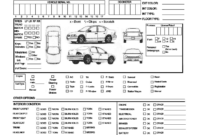 28+ [ Vehicle Condition Report Form Template ]   Vehicle intended for Car Damage Report Template