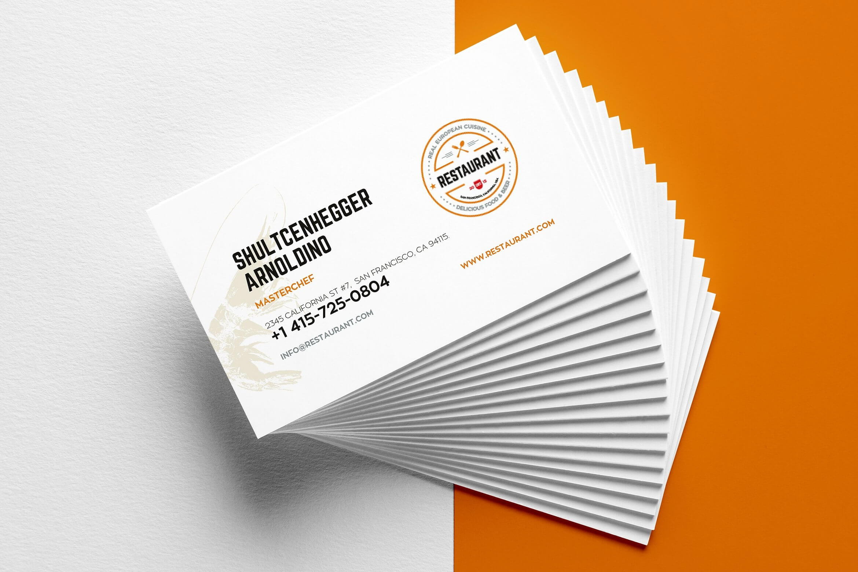 29+ Creative Restaurant Business Card Templates – Ai, Apple Intended For Blank Business Card Template Psd