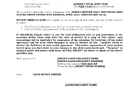 3 Day Eviction Notice For Non-Payment Of Rent In California throughout 3 Day Eviction Notice Template