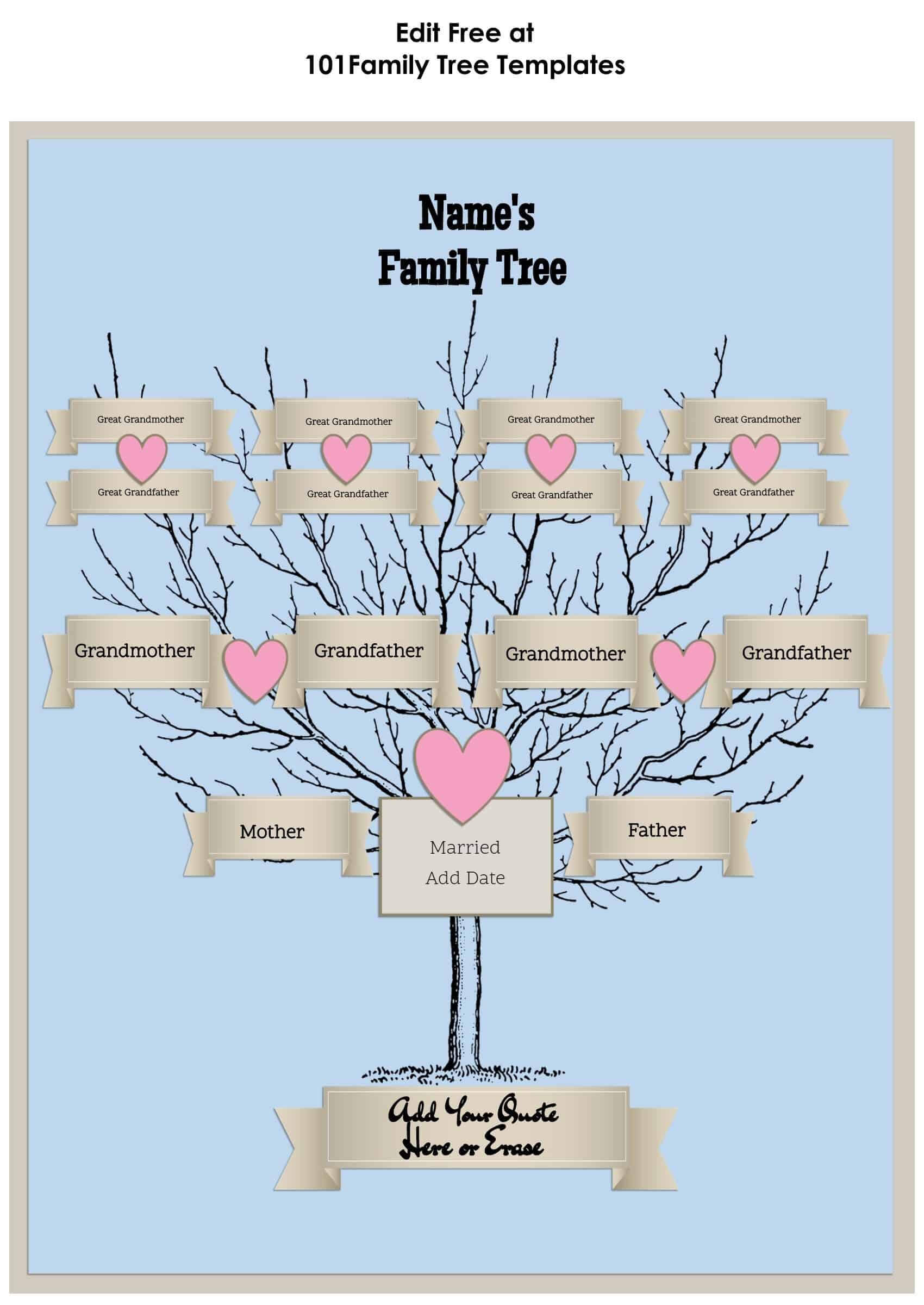 3 Generation Family Tree Generator | All Templates Are Free Pertaining To 3 Generation Family Tree Template Word