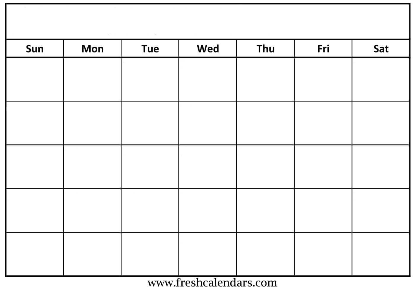 30 Blank Calendar Template 2019 | Andaluzseattle Template In Blank Calander Template