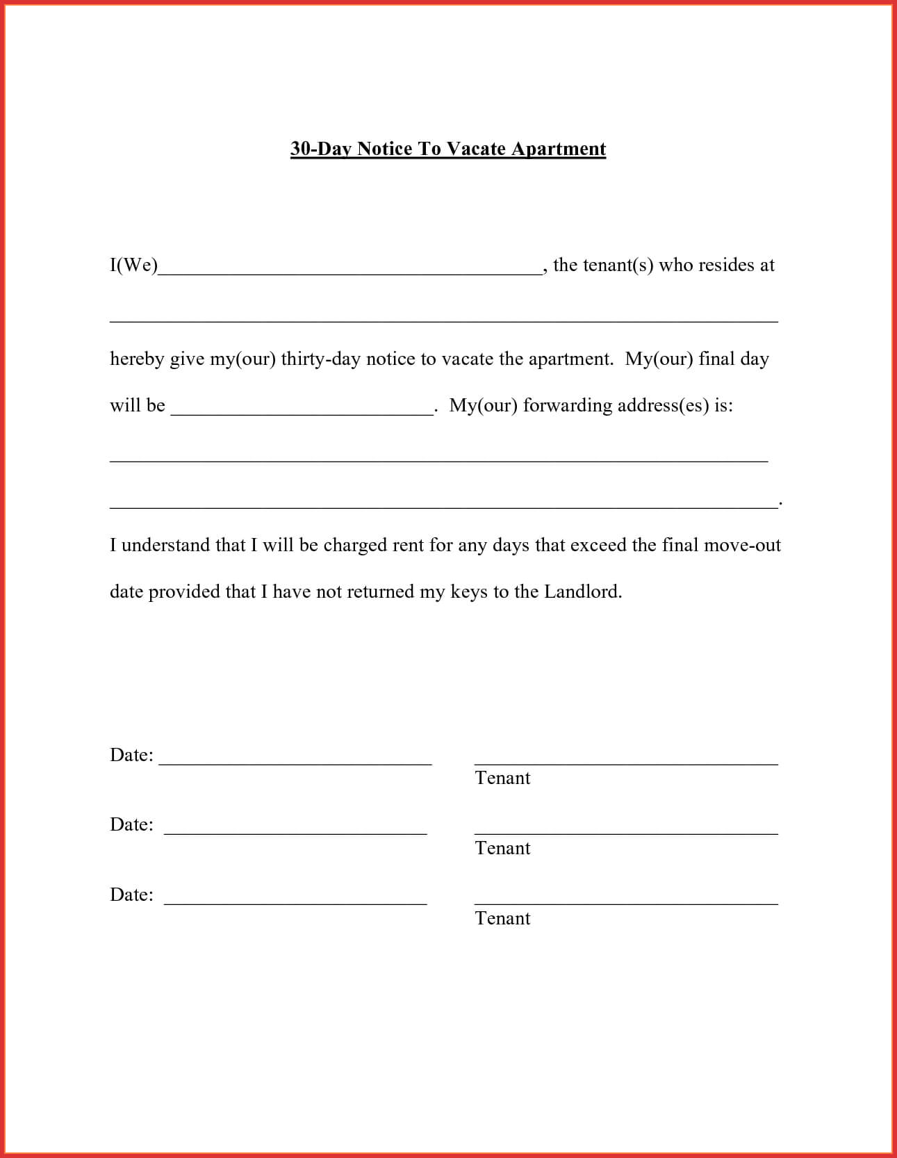30 Days Move Out Notice - Tunu.redmini.co With Regard To 30 Day Eviction Notice Template