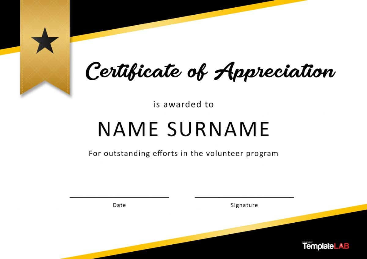 30 Free Certificate Of Appreciation Templates And Letters Pertaining To Best Performance Certificate Template