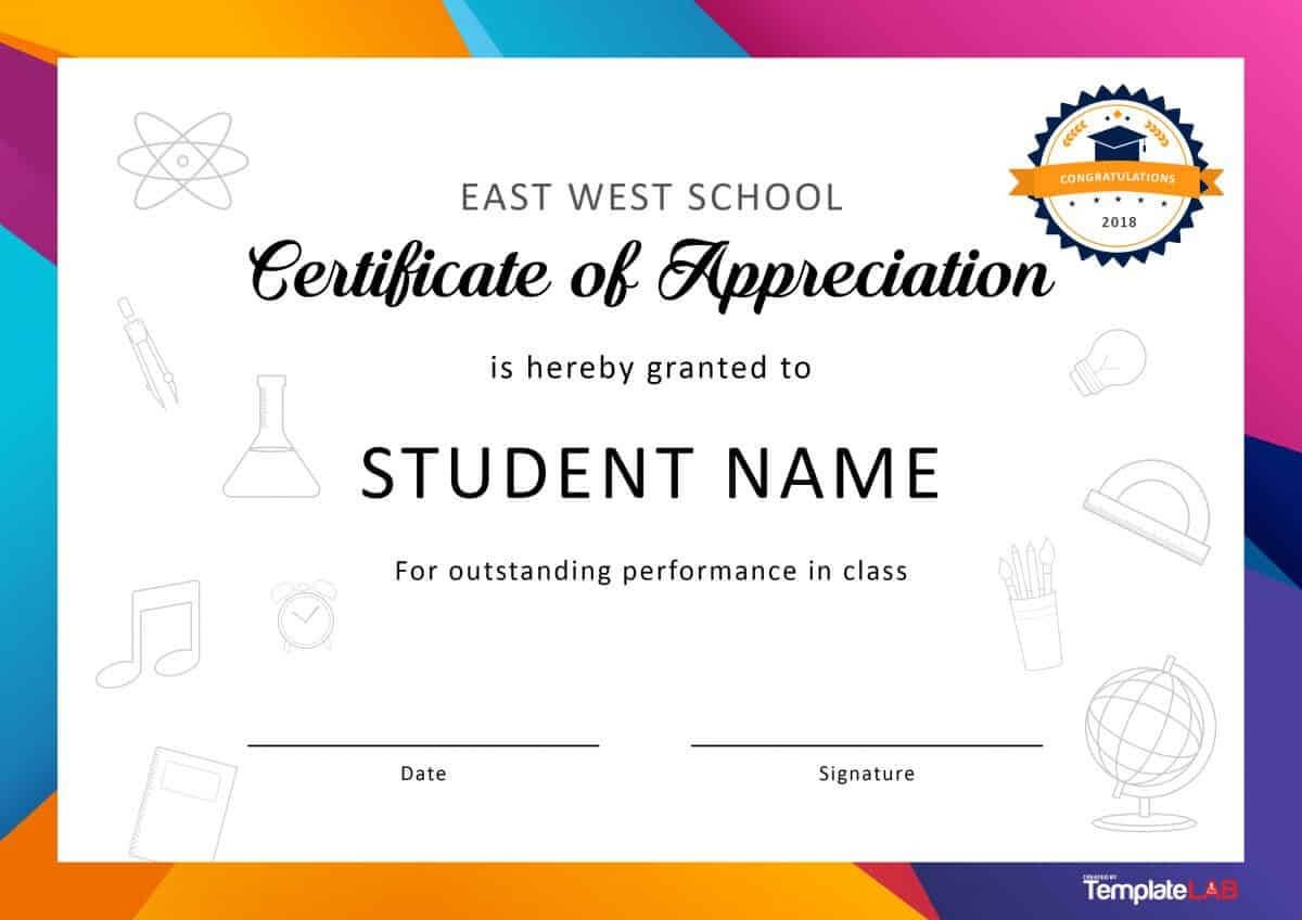 30 Free Certificate Of Appreciation Templates And Letters Regarding Best Performance Certificate Template