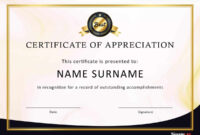 30 Free Certificate Of Appreciation Templates And Letters throughout Certificate Of Appearance Template