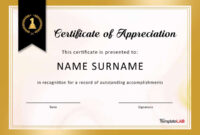 30 Free Certificate Of Appreciation Templates And Letters with regard to Certificate For Years Of Service Template