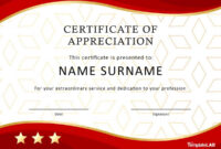 30 Free Certificate Of Appreciation Templates And Letters with regard to Certificate Of Service Template Free
