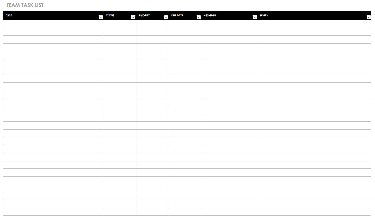 30+ Free Task And Checklist Templates   Smartsheet For Blank Checklist Template Word