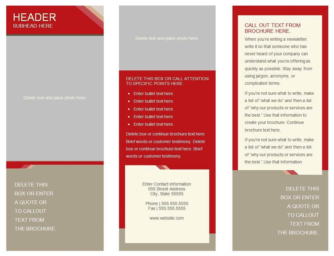 30 Google Docs Flyer Template | Andaluzseattle Template Example In 6 Panel Brochure Template