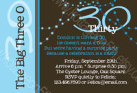 30Th Birthday Invitation Templates throughout 30Th Birthday Party Invitation Template