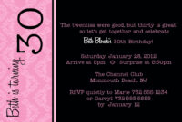 30Th Birthday Invitations Free Download with regard to 30Th Birthday Party Invitation Template
