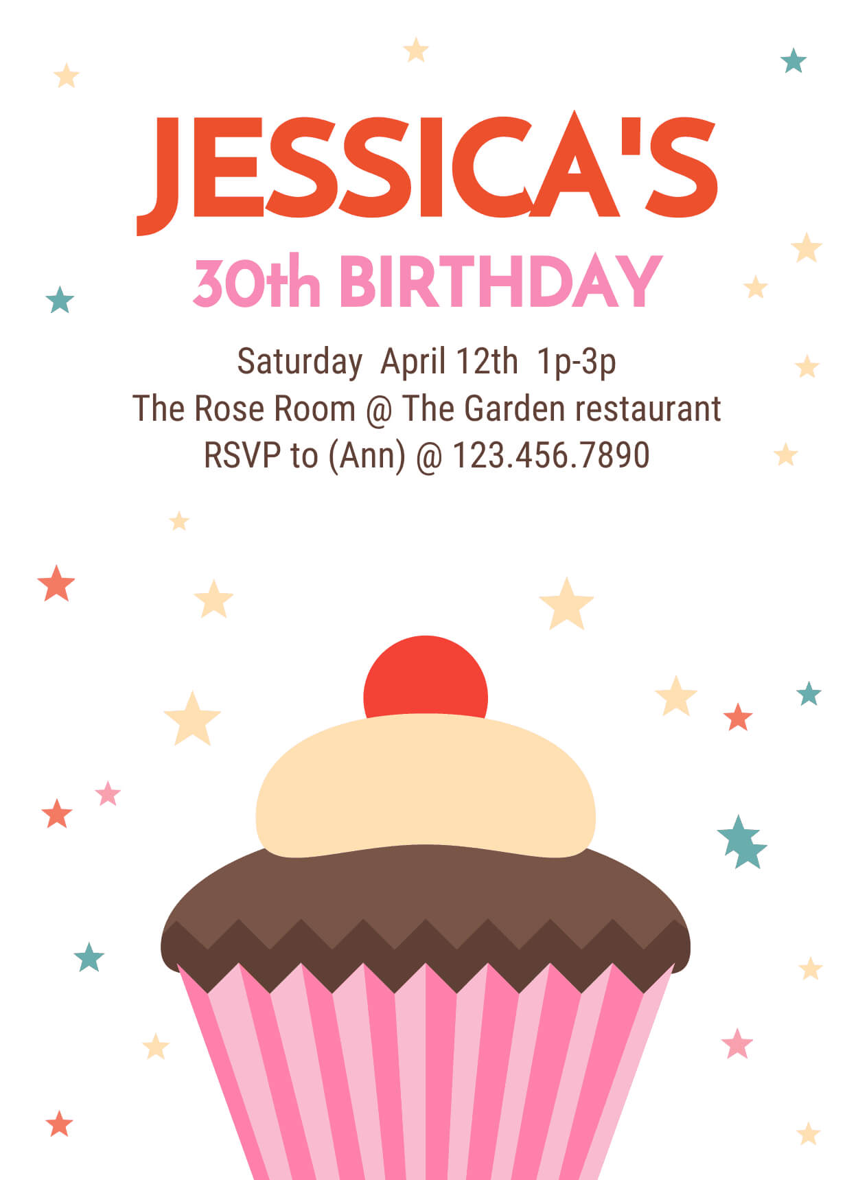 30Th Birthday Party Invitation Intended For 30Th Birthday Party Invitation Template