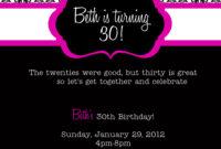 30Th Invitation Templates Free ] – Pics Photos Images Of with regard to 13 Birthday Invitation Templates
