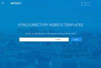 32 Top Responsive Directory Website Templates 2019 – Colorlib in Business Directory Template Free