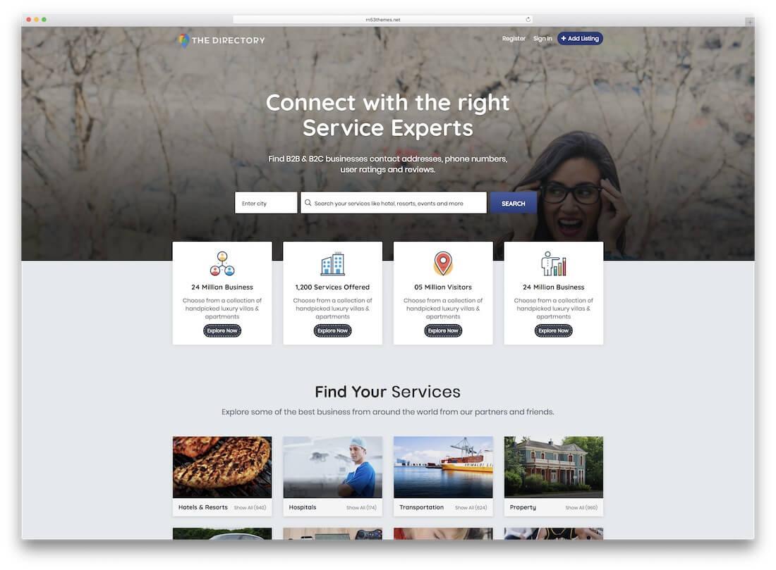 32 Top Responsive Directory Website Templates 2019 - Colorlib Inside Business Listing Website Template