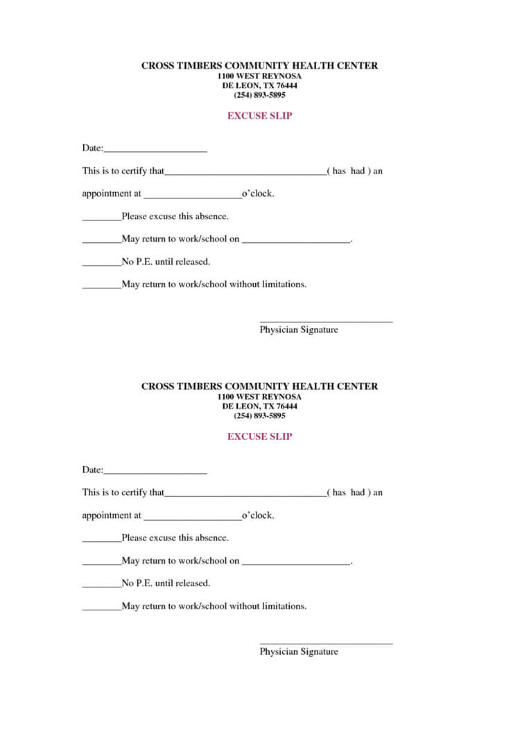 36 Free Fill In Blank Doctors Note Templates (For Work & School) For Blank Doctors Note Template