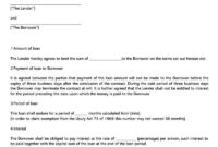 38 Free Loan Agreement Templates & Forms (Word, Pdf) throughout Blank Loan Agreement Template