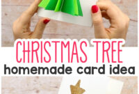 3D Christmas Tree Card – Easy Peasy And Fun in 3D Christmas Tree Card Template