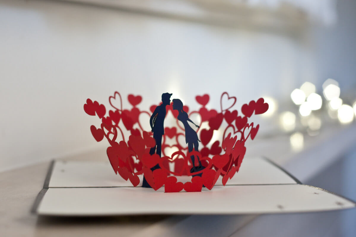 3D Heart Pop Up Card Template Pdf ] – Items Similar To Within 3D Heart Pop Up Card Template Pdf