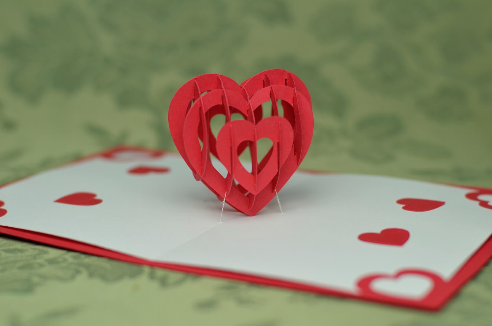 3D Heart Pop Up Card Template Regarding 3D Heart Pop Up Card Template Pdf