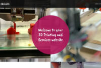 3D Printing And Services Website Templates   Godaddy intended for 3D Printing Templates