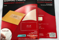 """3M Shipping Labels Quick Lift Design Laser Printers Clear 2 X 4"""" 200 2 Packs pertaining to 3M Label Template"""
