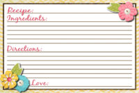3X5 Recipe Card Template ] – Free Template For Recipe Cards inside 4X6 Photo Card Template Free