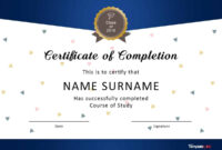 40 Fantastic Certificate Of Completion Templates [Word for 5Th Grade Graduation Certificate Template