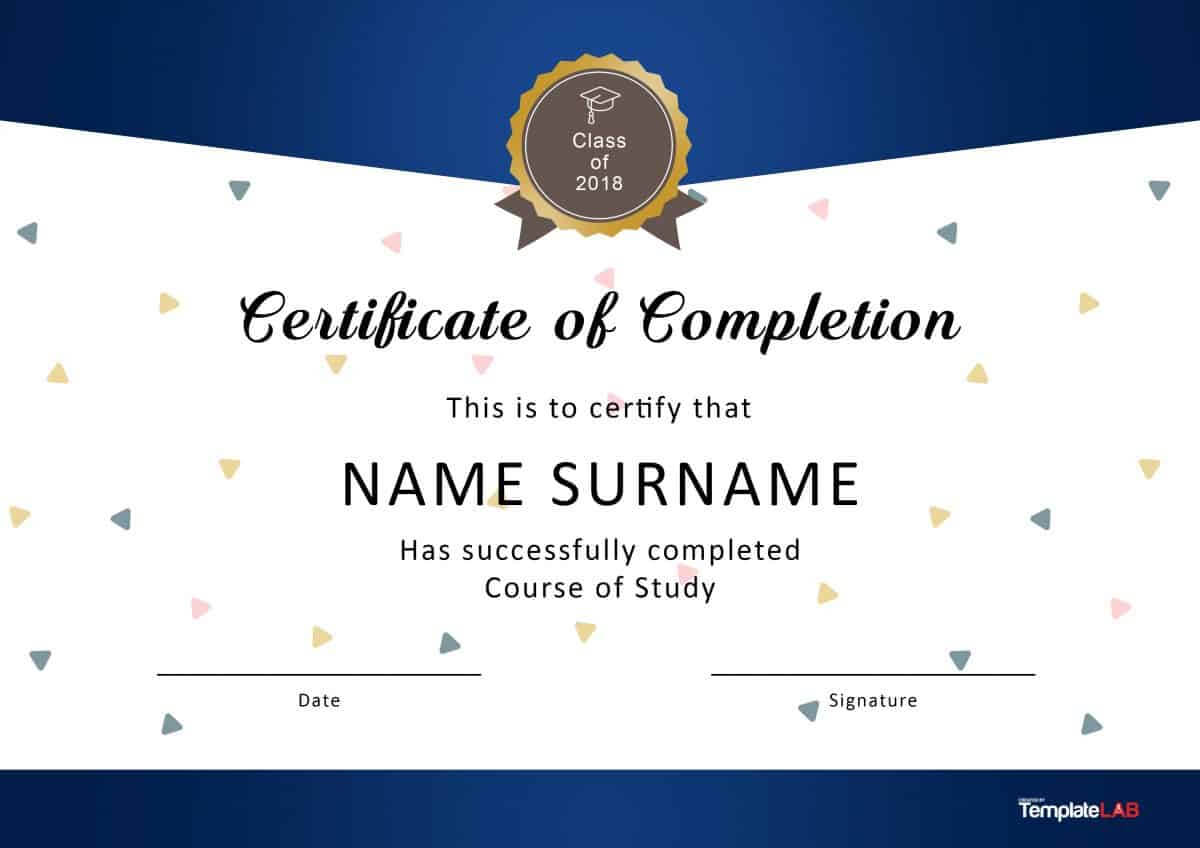40 Fantastic Certificate Of Completion Templates [Word For Certificate Of Completion Free Template Word