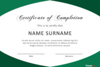 40 Fantastic Certificate Of Completion Templates [Word for Certificate Of Completion Word Template