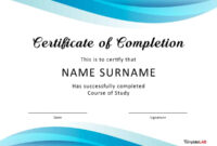 40 Fantastic Certificate Of Completion Templates [Word intended for Certificate Of Attendance Conference Template