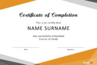 40 Fantastic Certificate Of Completion Templates [Word regarding Certificate Of Completion Template Word