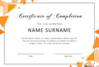 40 Fantastic Certificate Of Completion Templates [Word regarding Certificate Template For Project Completion