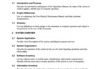 40 Free Instruction Manual Templates [Operation / User Manual] within Brief Op Note Template