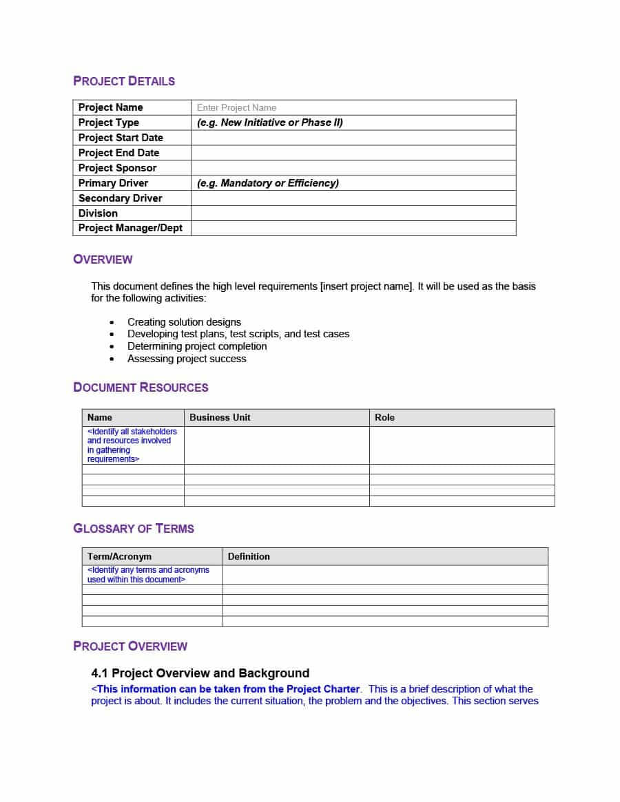 40+ Simple Business Requirements Document Templates ᐅ Throughout Business Requirements Questionnaire Template