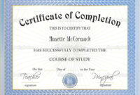 42+ Free Certificate Of Completion Templates In Word Excel Pdf inside Certificate Of Completion Word Template