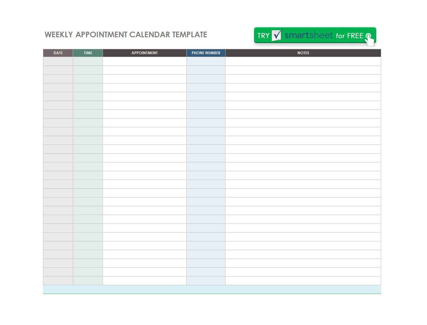 45 Printable Appointment Schedule Templates [& Appointment For Appointment Sheet Template Word