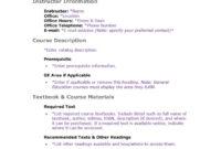 47 Editable Syllabus Templates (Course Syllabus) ᐅ Template Lab in Blank Syllabus Template