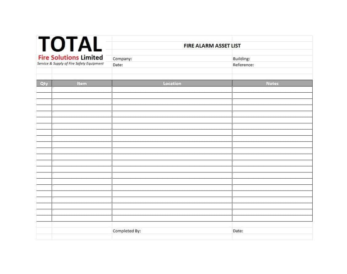 48 Useful Asset List Templates (Personal, Business Etc.) ᐅ In Business Asset List Template